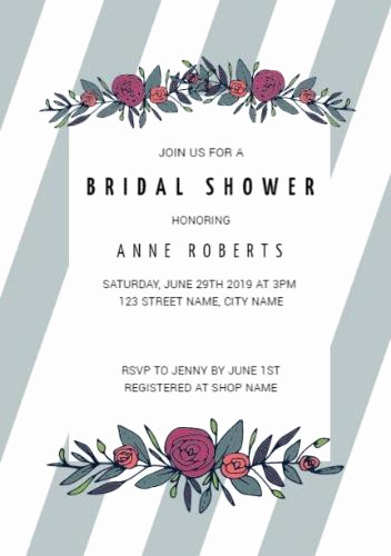 Bridal Shower Invitation Template Beautiful Customize Over 200 Bridal Shower Invitation Templates