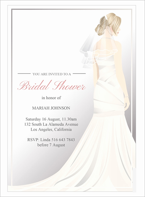Bridal Shower Invitation Template Beautiful Sample Invitation Template Download Premium and Free