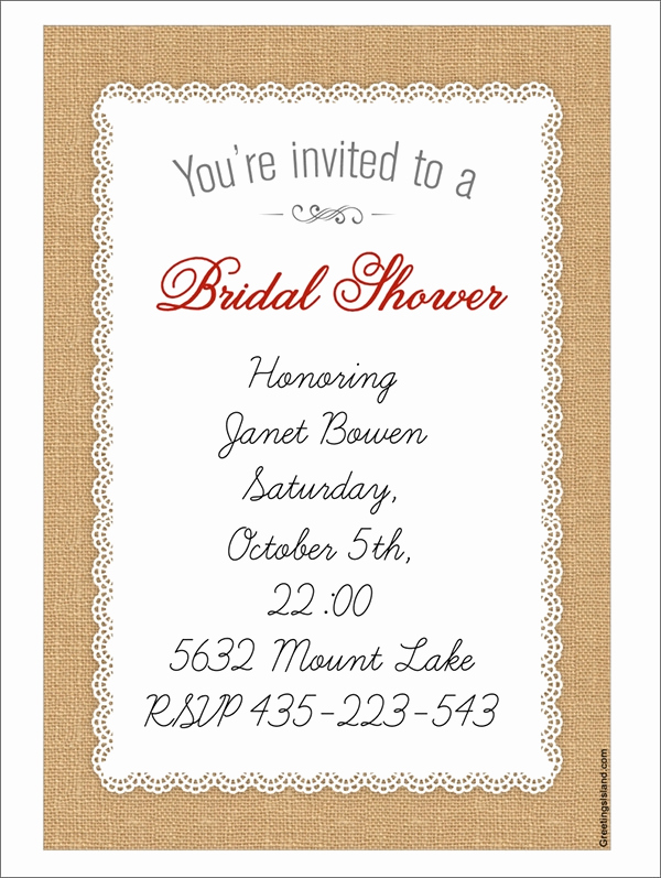 Bridal Shower Invitation Template Best Of 25 Bridal Shower Invitation Templates Download Free