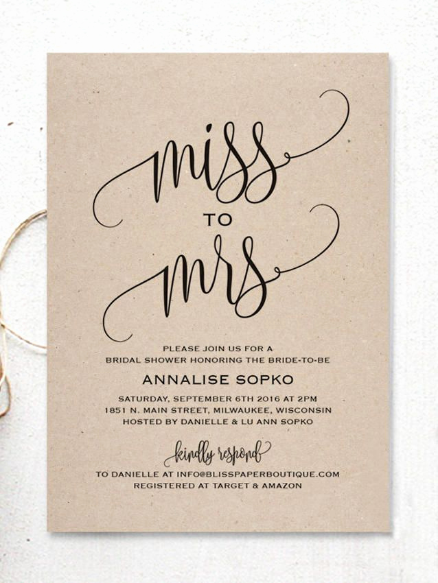 Bridal Shower Invitation Template Elegant 17 Printable Bridal Shower Invitations You Can Diy