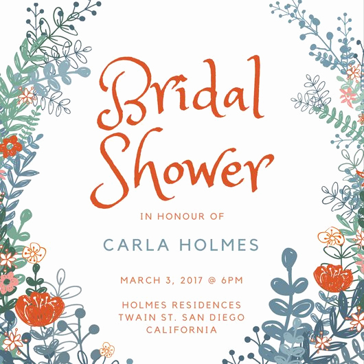 Bridal Shower Invitation Template Free Beautiful Customize 636 Bridal Shower Invitation Templates Online