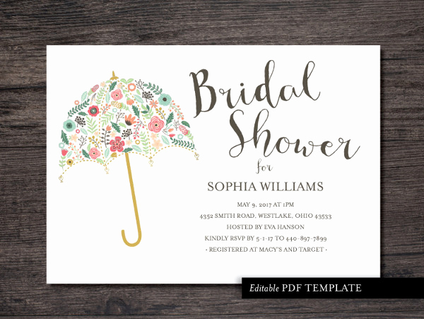 Bridal Shower Invitation Template Free Fresh 26 Bridal Shower Invitation Templates Word Psd Ai