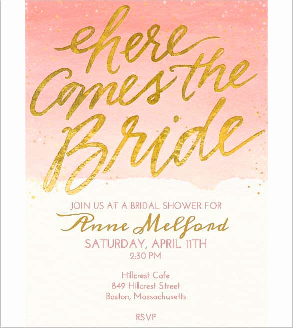 Bridal Shower Invitation Template Free Fresh 85 Wedding Invitation Templates Psd Ai
