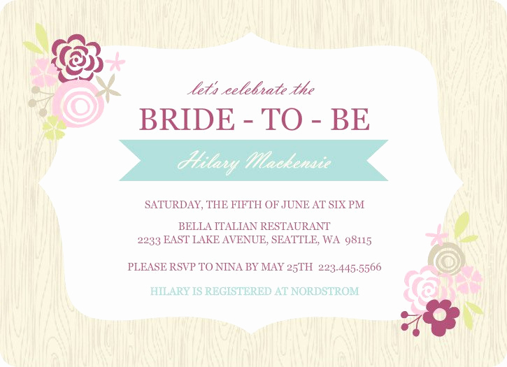 Bridal Shower Invitation Template Free Inspirational Printable Bridal Shower Invitations Templates