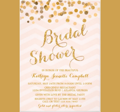 Bridal Shower Invitation Template Free Lovely 33 Psd Bridal Shower Invitations Templates