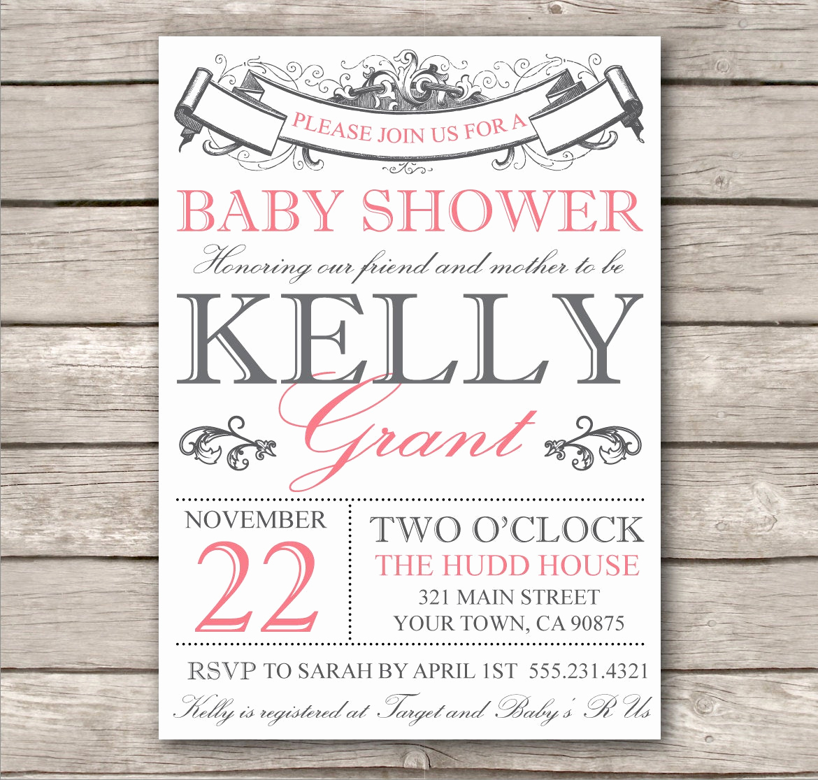 Bridal Shower Invitation Template Free Luxury Bridal Shower Invitation or Baby Shower Invitation by