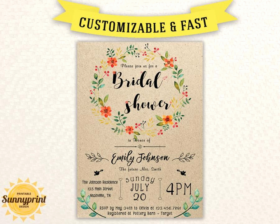 Bridal Shower Invitation Template Free Unique Bridal Shower Invites Bridal Shower Vintage Bridal