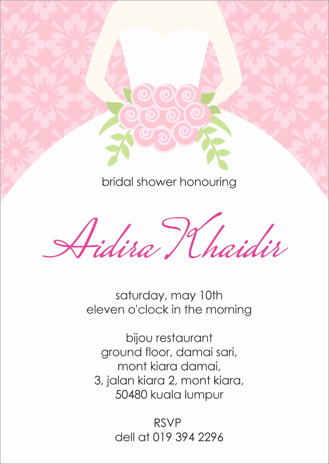 Bridal Shower Invitation Template Fresh Bridal Shower Invitations Bridal Shower Invitation