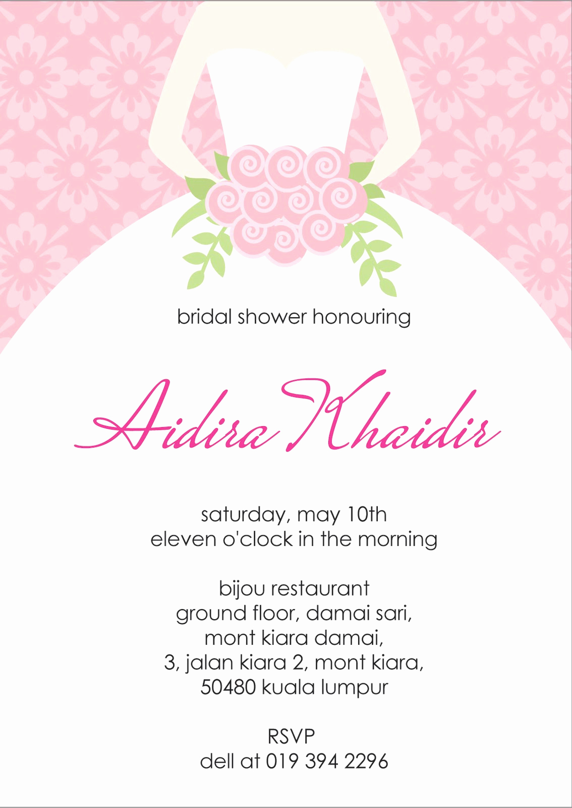Bridal Shower Invitation Template Fresh Your One Stop Wedding Centre Ts Deco Favors and