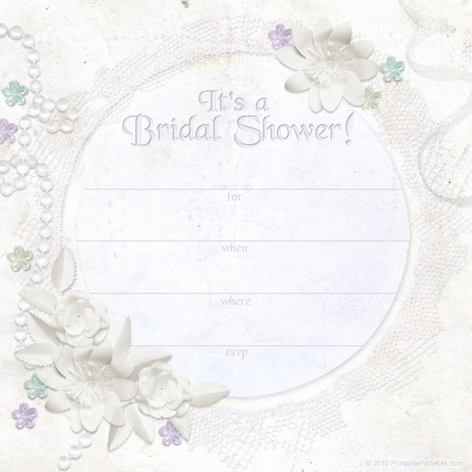 Bridal Shower Invitation Template Lovely Free Printable Bridal Shower Invitations
