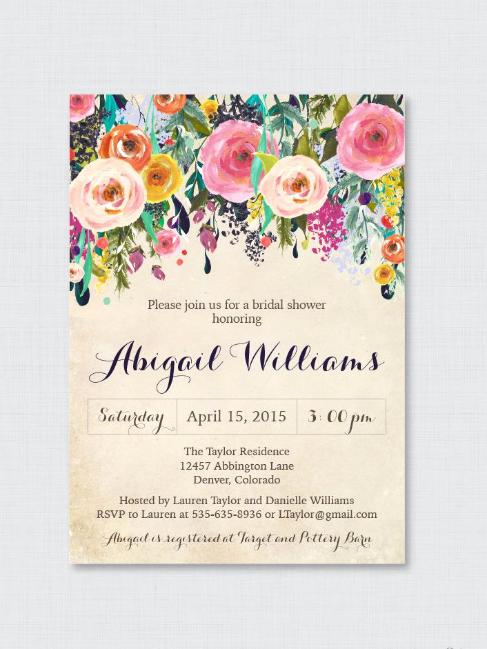 Bridal Shower Invitation Templates Awesome Printable Bridal Shower Invitations You Can Diy