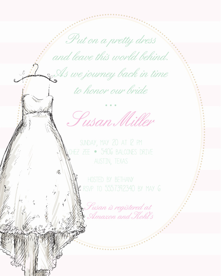 Bridal Shower Invitation Templates Beautiful Bridal Shower Invitation Wording Ideas and Etiquette