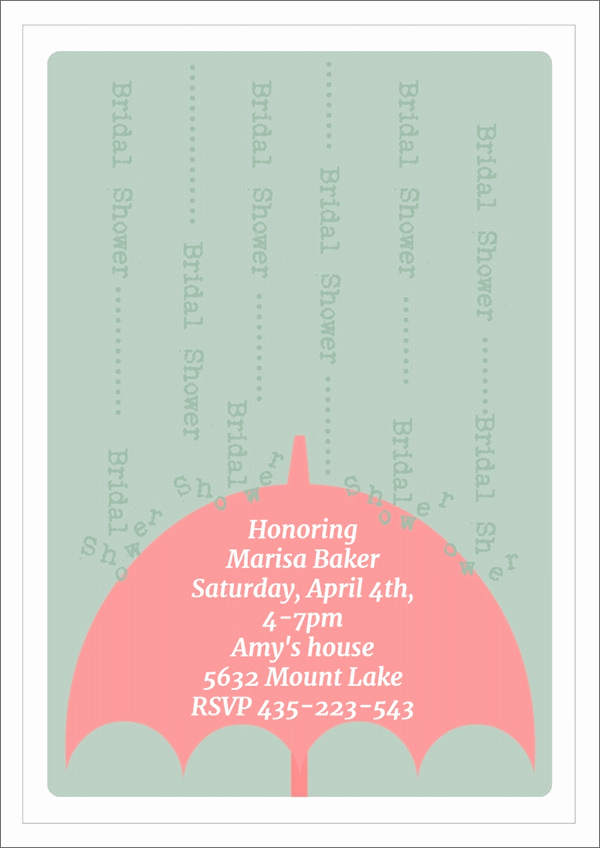 Bridal Shower Invitation Templates Elegant 25 Bridal Shower Invitation Templates Download Free