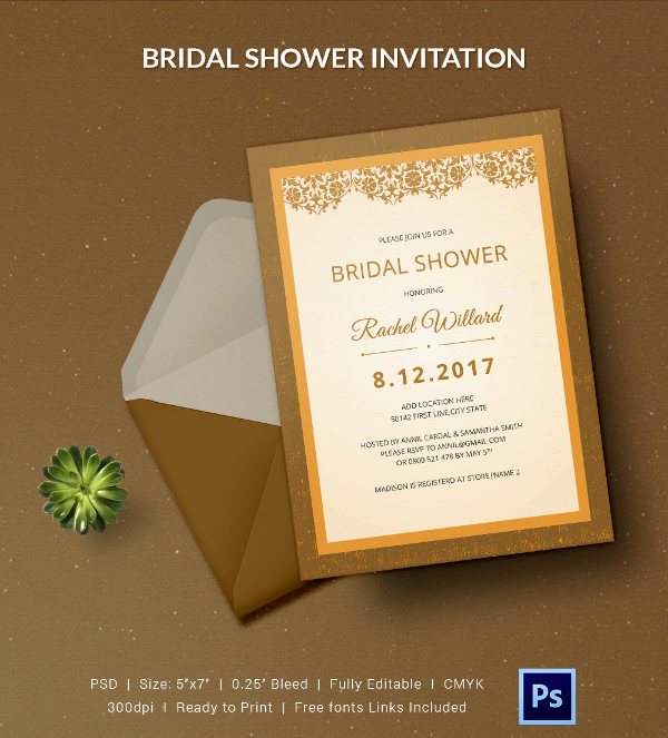 Bridal Shower Invitation Templates Elegant 25 Bridal Shower Invitations Templates
