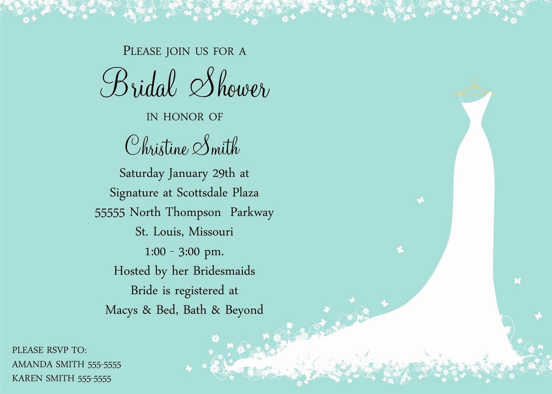 Bridal Shower Invitation Templates Elegant Bridal Shower Invitation Bride