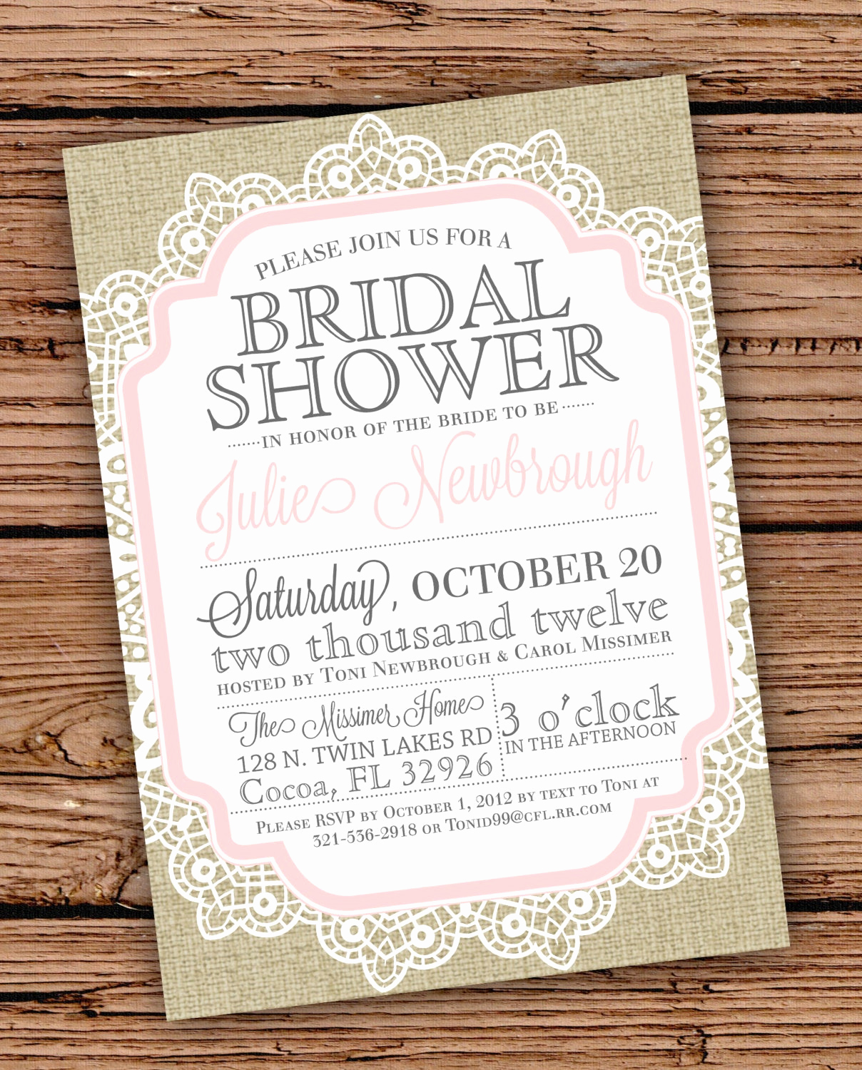 Bridal Shower Invitation Templates Inspirational Burlap and Lace Vintage Bridal Shower Baby by
