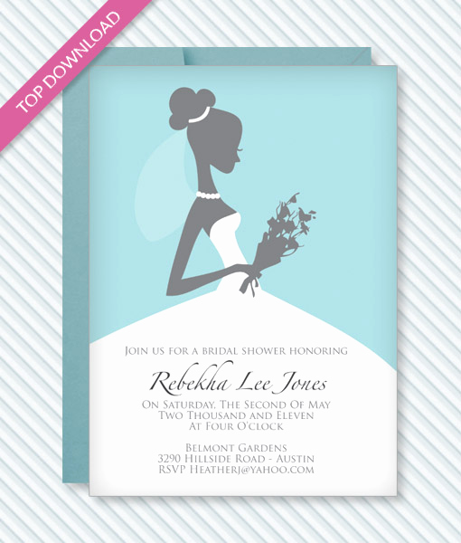 Bridal Shower Invitation Templates Lovely Bridal Shower Invitation Template – Download & Print