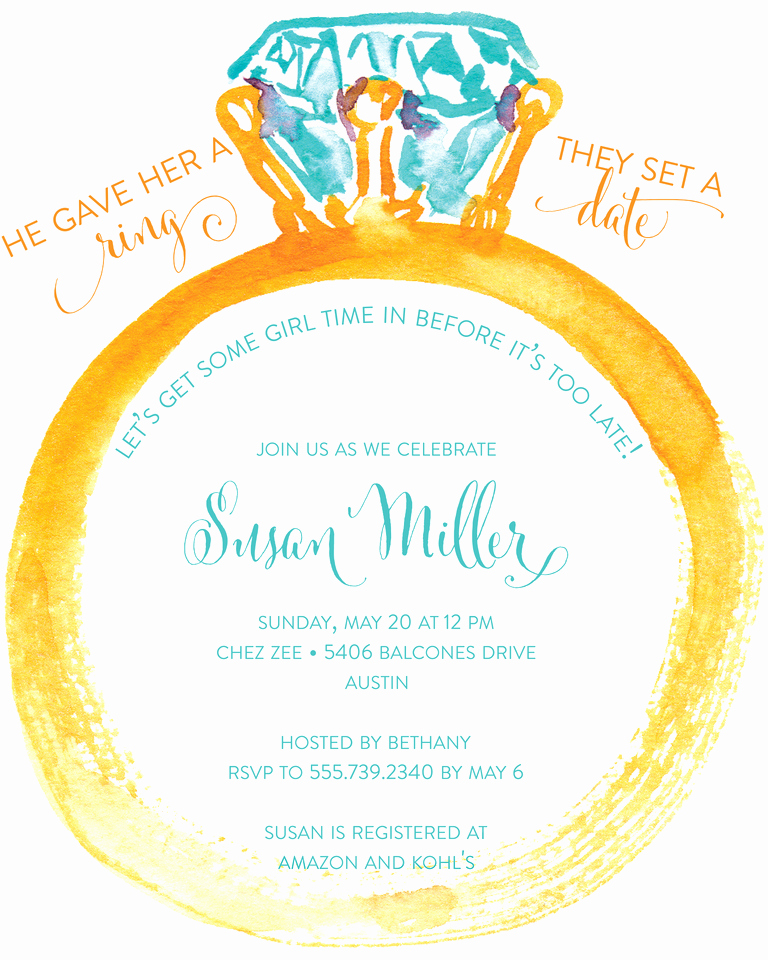 Bridal Shower Invitation Templates New Bridal Shower Invitation Wording Ideas and Etiquette