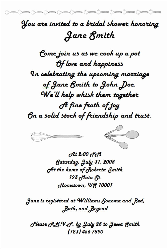 Bridal Shower Invitation Wording Beautiful 69 Microsoft Invitation Templates Word