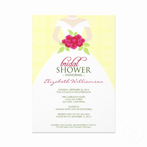 Bridal Shower Invitation Wording Best Of Sample Bridal Shower Invitations Wording