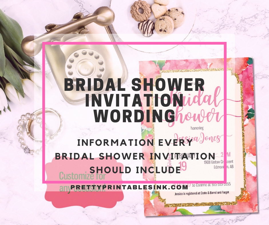 Bridal Shower Invitation Wording Lovely Bridal Shower Invitation Wording What You Need to Know