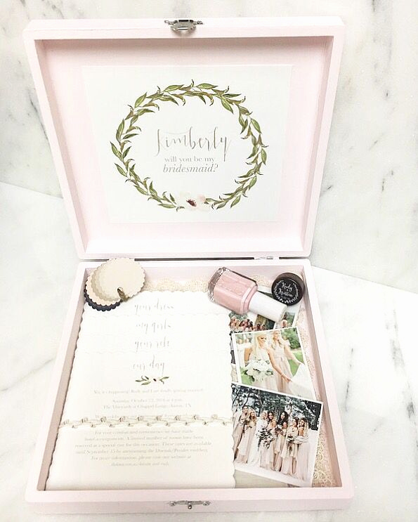 Bridesmaid Invitation Box Ideas Beautiful Best 25 Bridesmaid Boxes Ideas On Pinterest