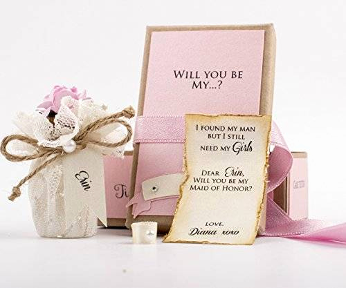Bridesmaid Invitation Box Ideas Best Of Amazon Will You Be My Bridesmaid Gift Message In A