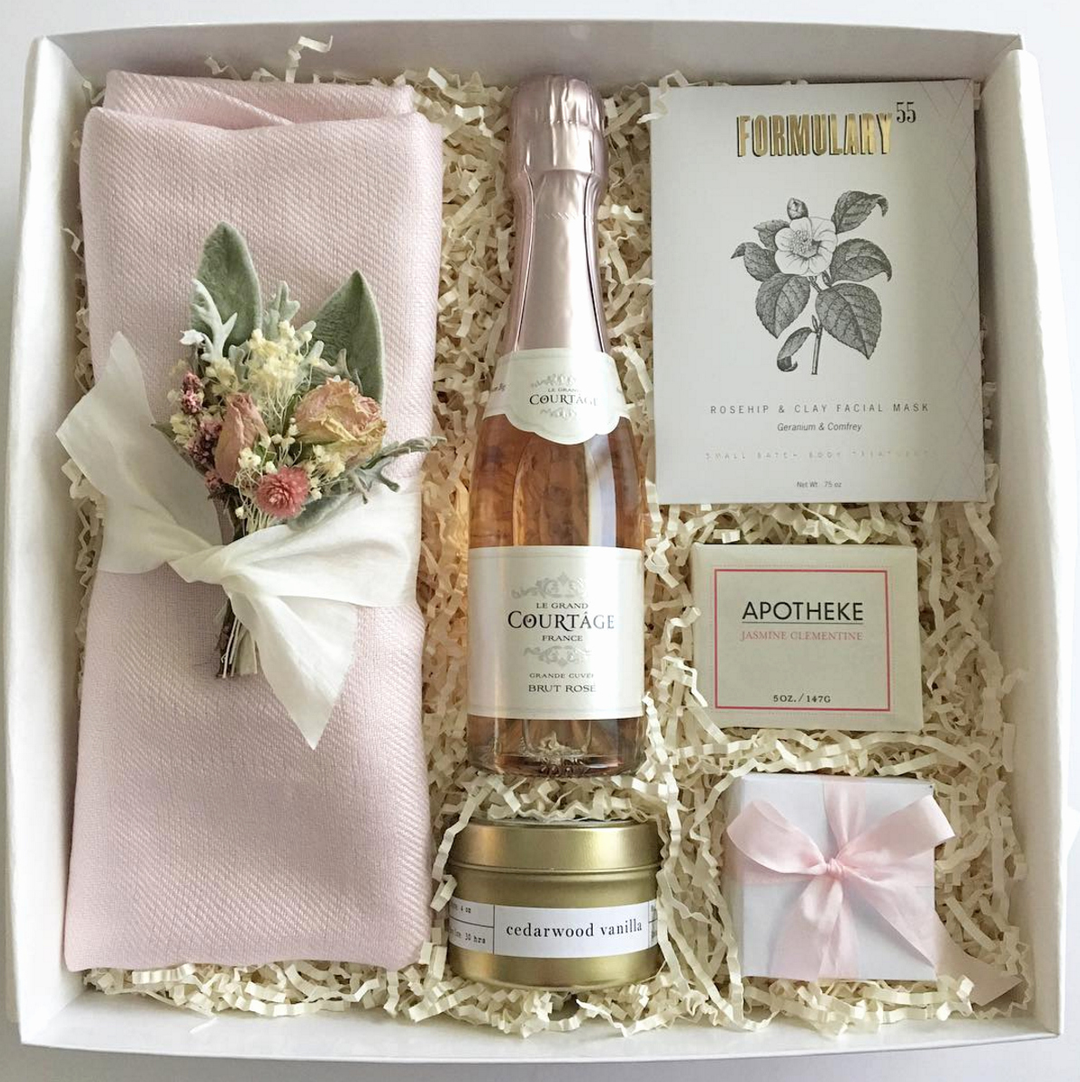 Bridesmaid Invitation Box Ideas Elegant Bridesmaid Gift Box or Bridesmaid Proposal Blush and Gold