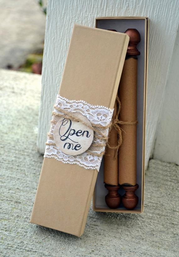 Bridesmaid Invitation Box Ideas Elegant Items Similar to Scroll Wedding Invitation Custom