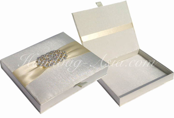 Bridesmaid Invitation Box Ideas Elegant Luxury Ivory Silk Wedding Box for Invitation Cards