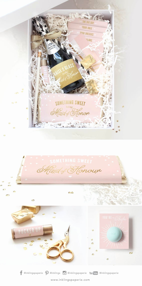 Bridesmaid Invitation Box Ideas Fresh Be My Bridesmaid Box Printable Collection Champagne