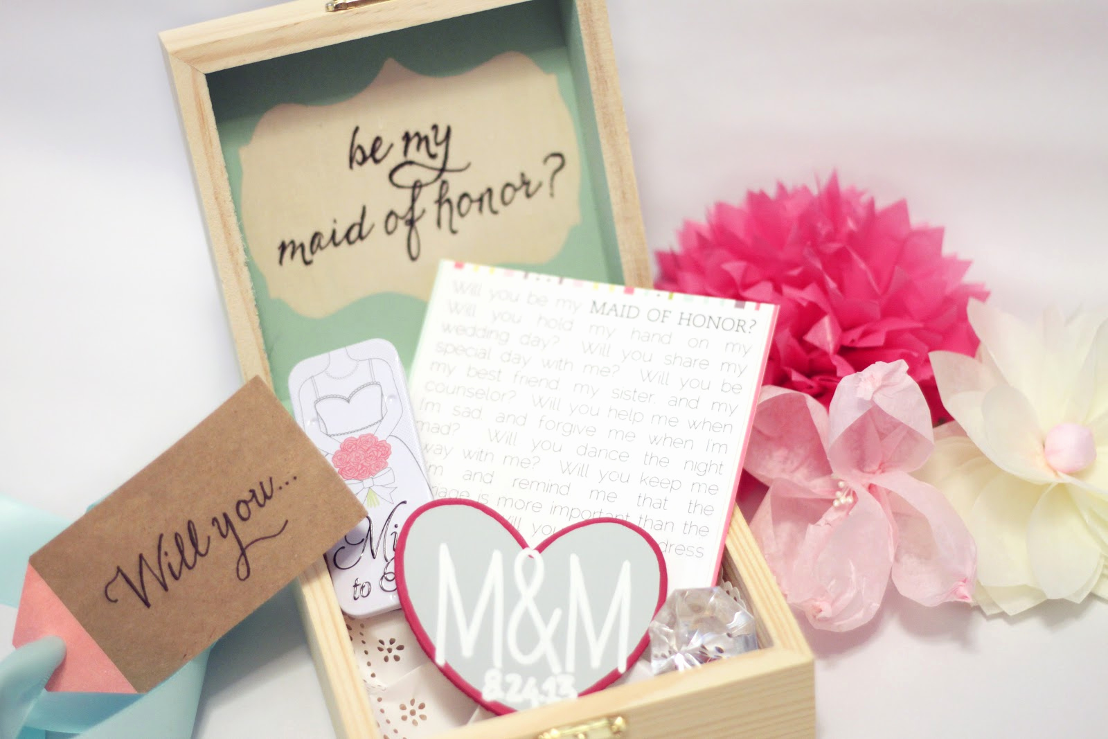 Bridesmaid Invitation Box Ideas Lovely M&m Wedding