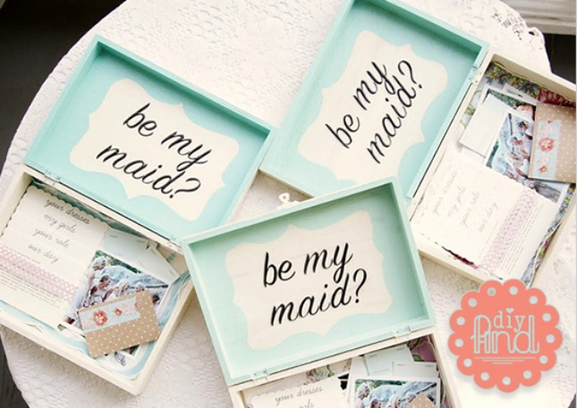 Bridesmaid Invitation Box Ideas Lovely Popping the Question to Your Girls the Mackey House
