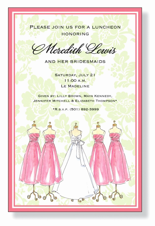 Bridesmaid Luncheon Invitation Wording Awesome 12 Best Images About Bridal Invitations On Pinterest