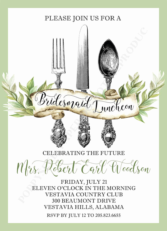 Bridesmaid Luncheon Invitation Wording Awesome Bridesmaid Luncheon Invitation Personalized Digital File or