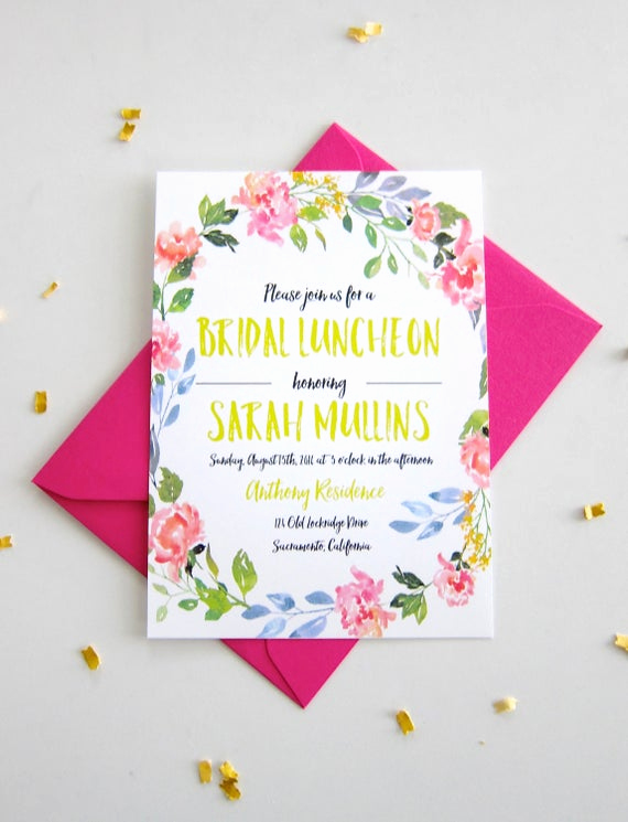 Bridesmaid Luncheon Invitation Wording Awesome Printable or Printed Bridal Luncheon by Shoppapergarden On