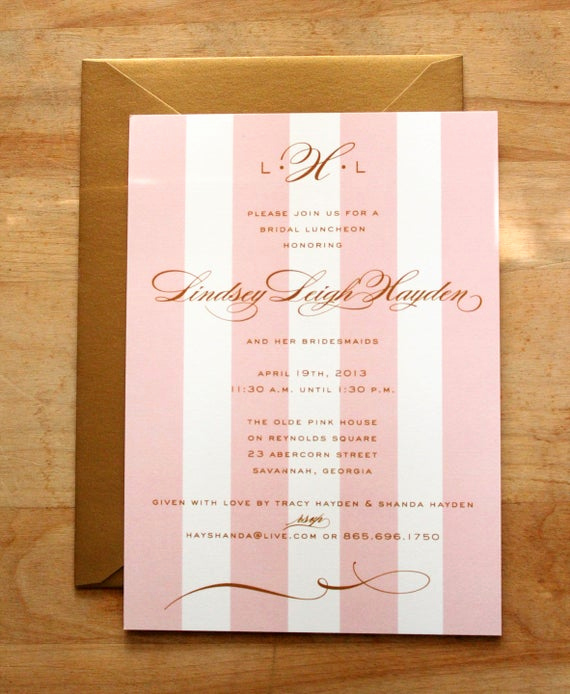 Bridesmaid Luncheon Invitation Wording Best Of Bridal Luncheon Bridesmaids Luncheon or Wedding Shower