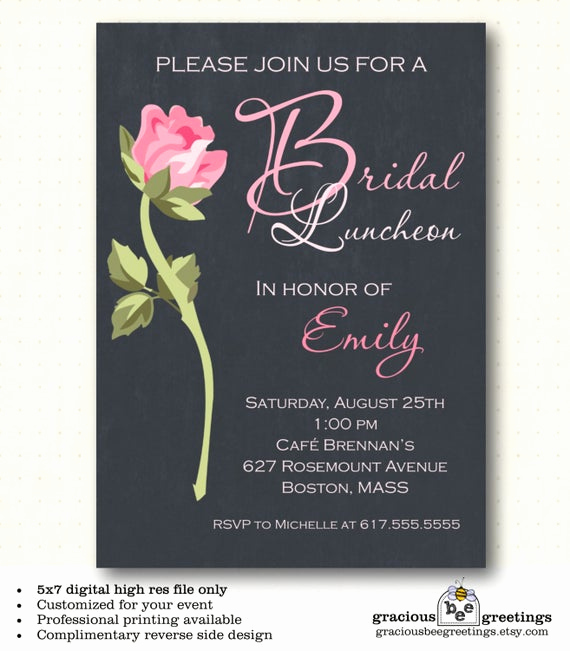 Bridesmaid Luncheon Invitation Wording Best Of Bridesmaid Luncheon Invitations Bridal by Graciousbeegreetings