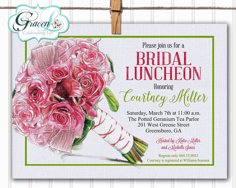 Bridesmaid Luncheon Invitation Wording Fresh Bridal Luncheon Invitation Bridal Brunch Invitation Bridal