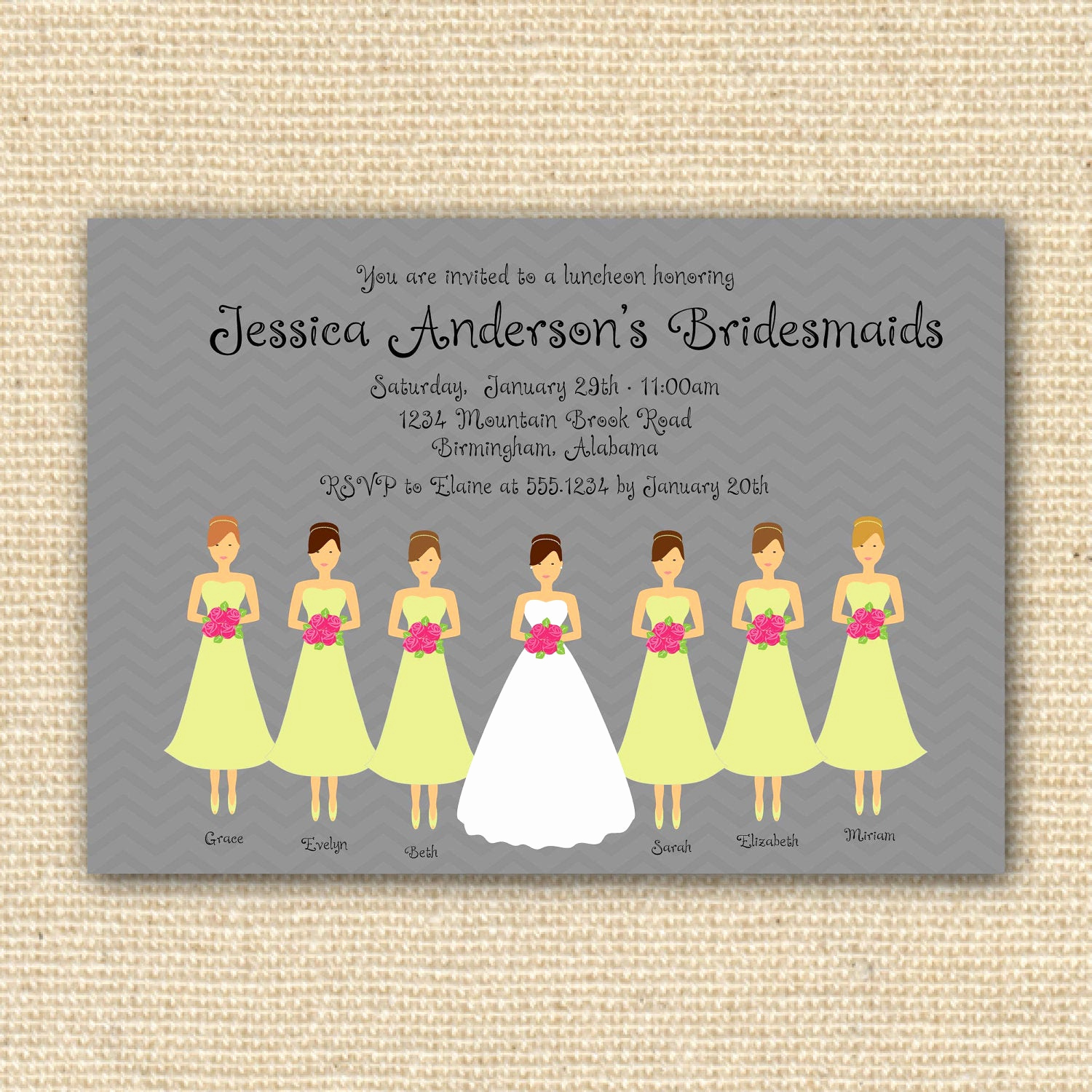 Bridesmaid Luncheon Invitation Wording Fresh Bridesmaids Luncheon Invitation Bridal Brunch Diy