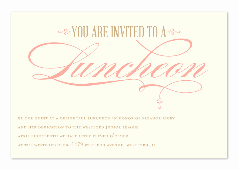 Bridesmaid Luncheon Invitation Wording Luxury Luncheon Elegance Corporate Invitations by Invitation