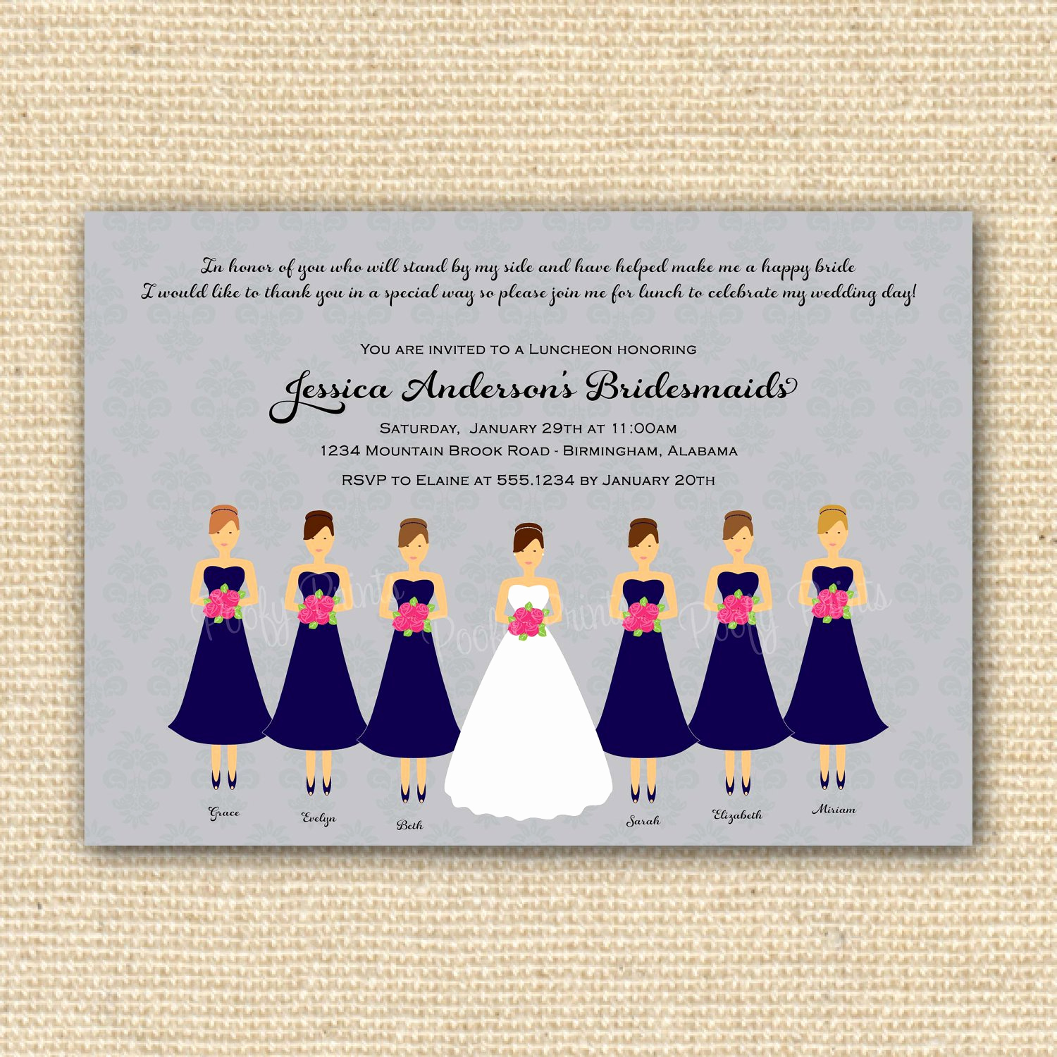 Bridesmaid Luncheon Invitation Wording New Bridal Luncheon Invitations Printable