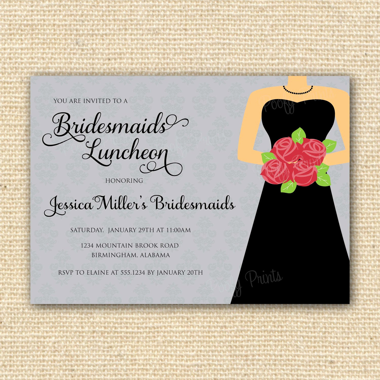 Bridesmaid Luncheon Invitation Wording Unique Bridesmaids Luncheon Invitation Bridal Brunch Diy by