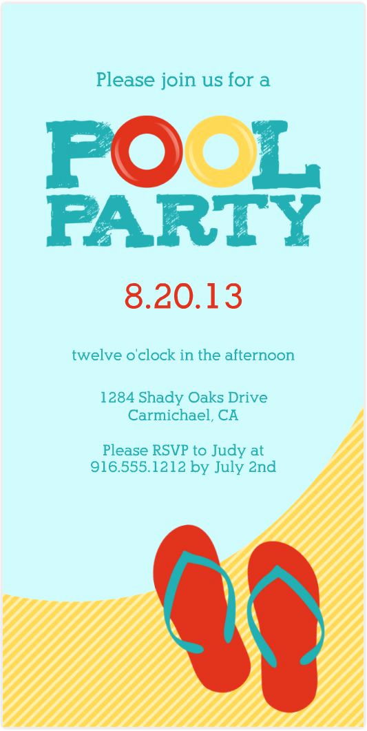 Bring Your Swimsuit Invitation Best Of 17 Best Images About Pool Party On Pinterest