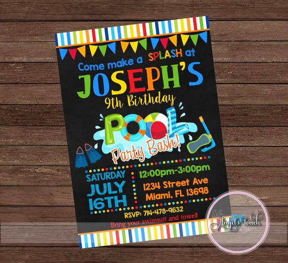 Bring Your Swimsuit Invitation Fresh Pool Party Invitation Pool Birthday Invitation Pool Birthday