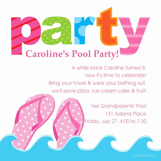 Bring Your Swimsuit Invitation New Haillie Pool Party A while Back Haillie Turned 9 now