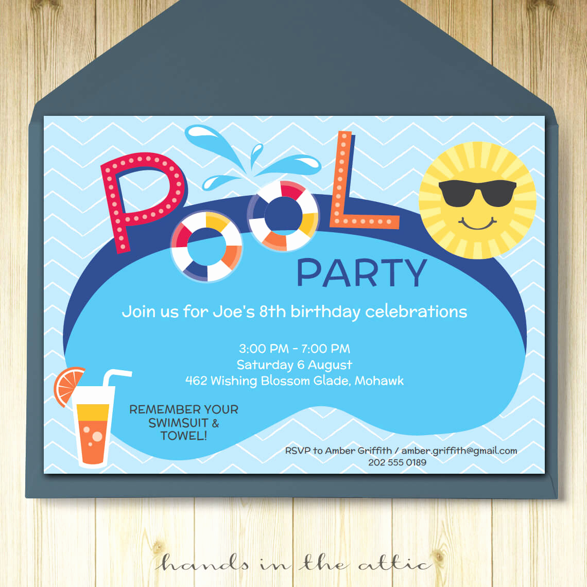 Bring Your Swimsuit Invitation New Pool Party Invitation Printable Template