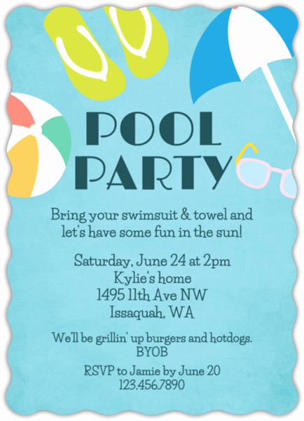 Bring Your Swimsuit Invitation Unique Fun In the Sun Pool Party Invitation
