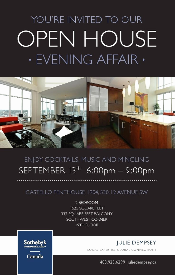 Broker Open House Invitation Inspirational Real Estatecastello Open House