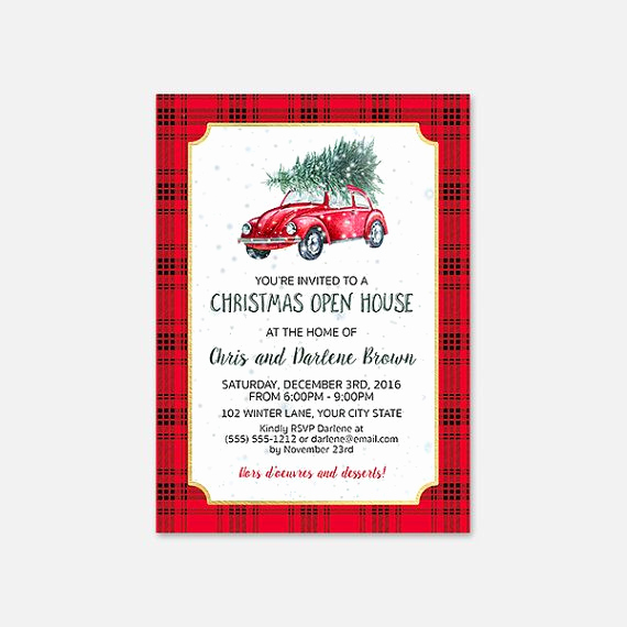 Broker Open House Invitation Unique Lumberjack Christmas Open House Invitation Printable